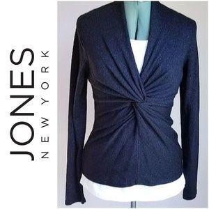 Jones New York Signature Black metallic sweater M